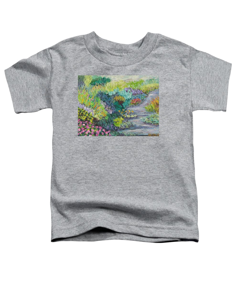 Flowers Toddler T-Shirt featuring the painting Pathway Of Flowers by Richard Nowak