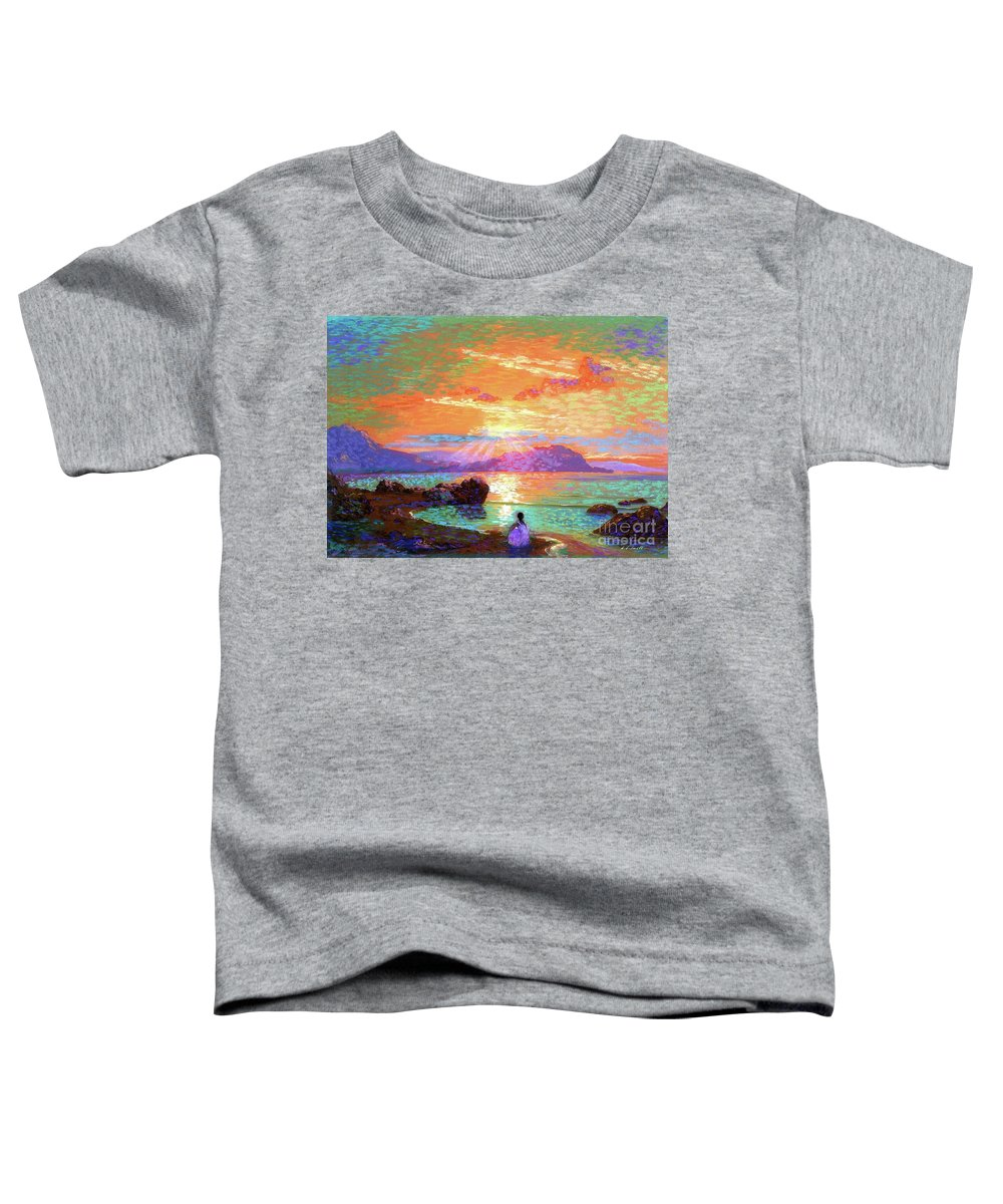 Hawaiian Sunset Paintings Toddler T-Shirts