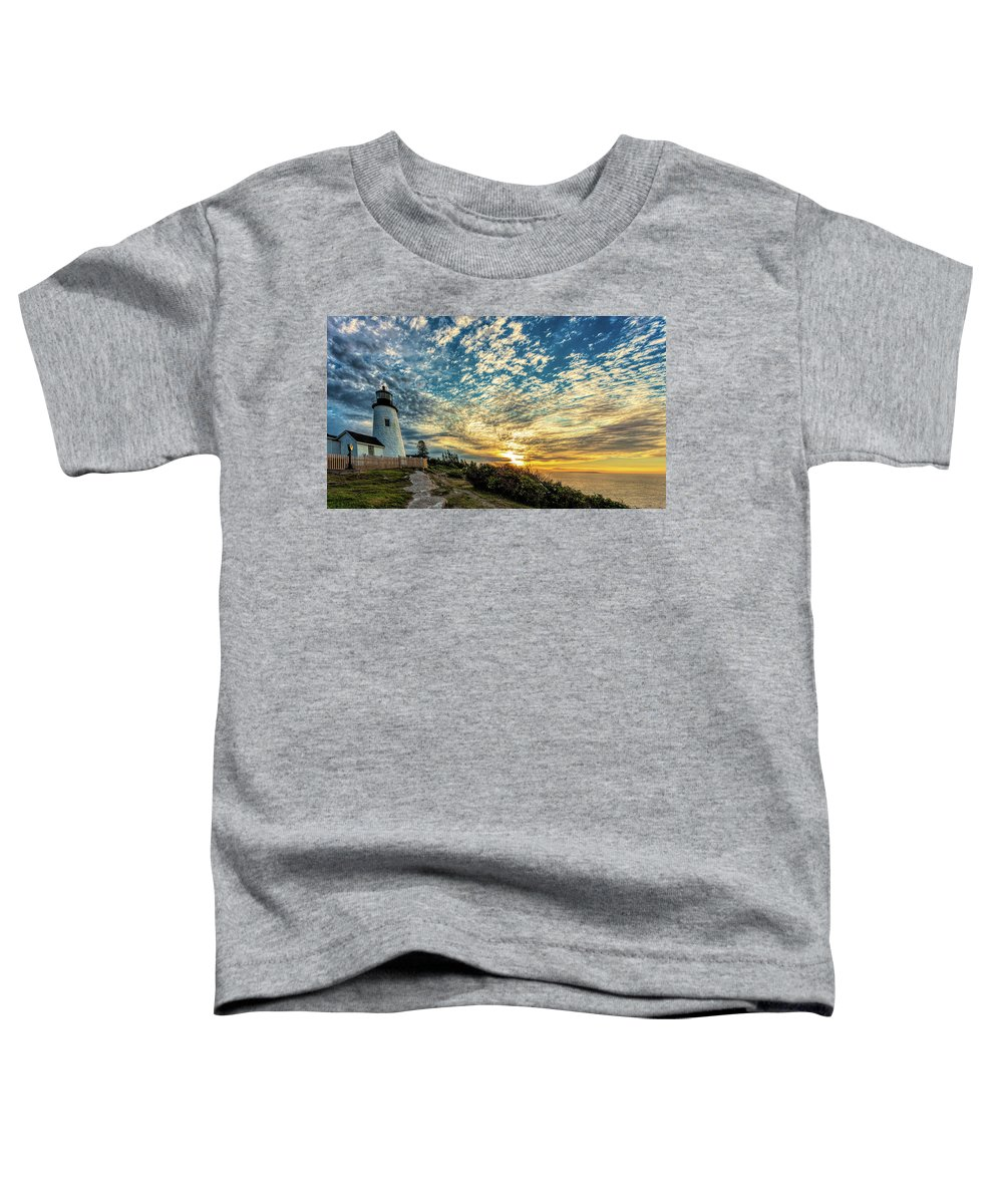 Vacationland Toddler T-Shirt featuring the photograph Pemaquid Point Lighthouse At Daybreak by David Smith