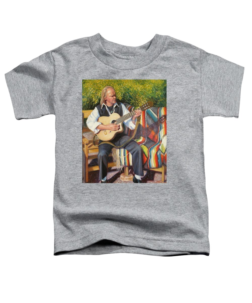 Realism Toddler T-Shirt featuring the painting Por Tu Amor by Donelli DiMaria
