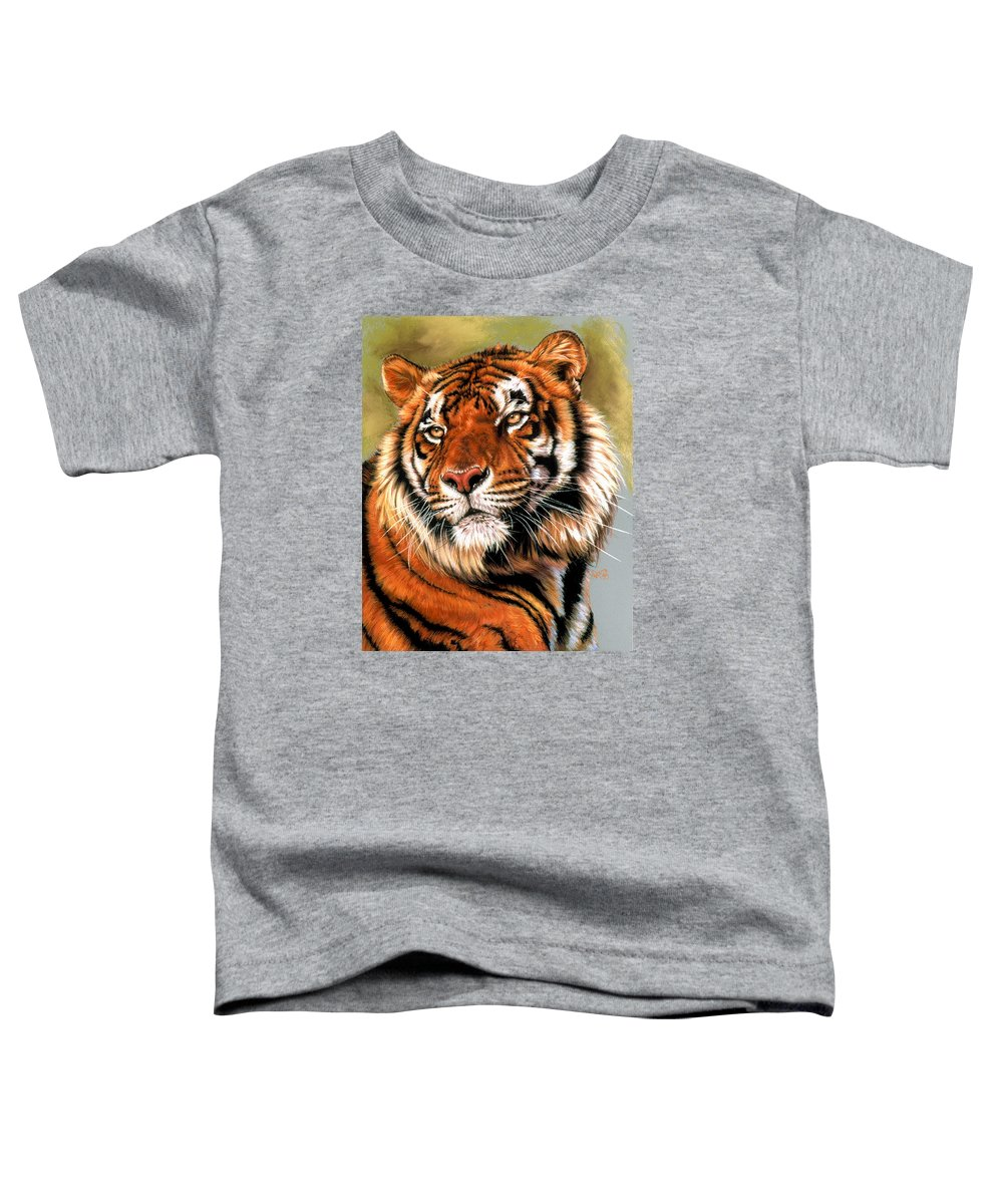 Tiger Toddler T-Shirt featuring the pastel Power And Grace by Barbara Keith