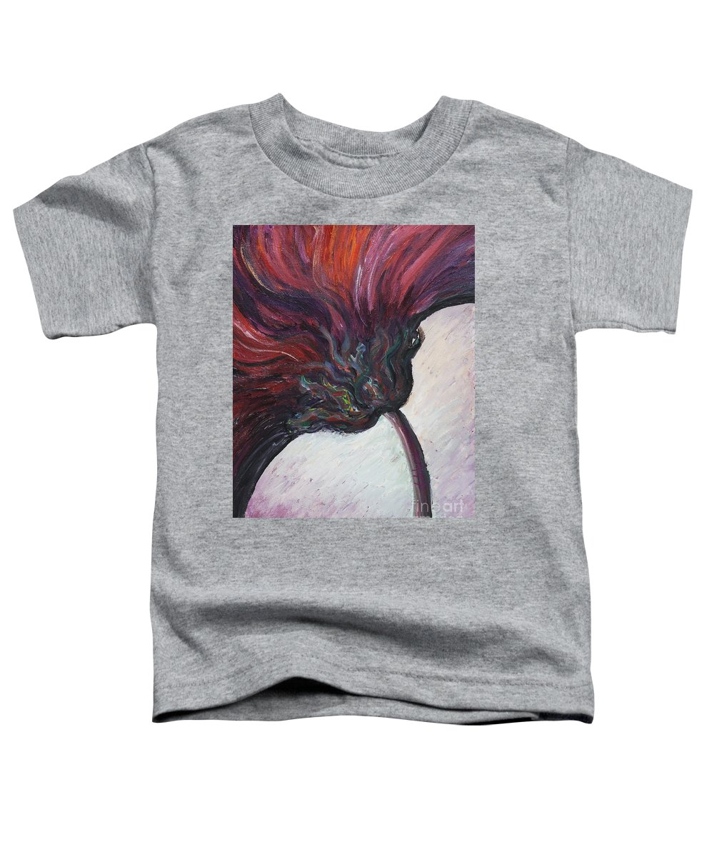 Purple Toddler T-Shirt featuring the painting Power Of Purple by Nadine Rippelmeyer