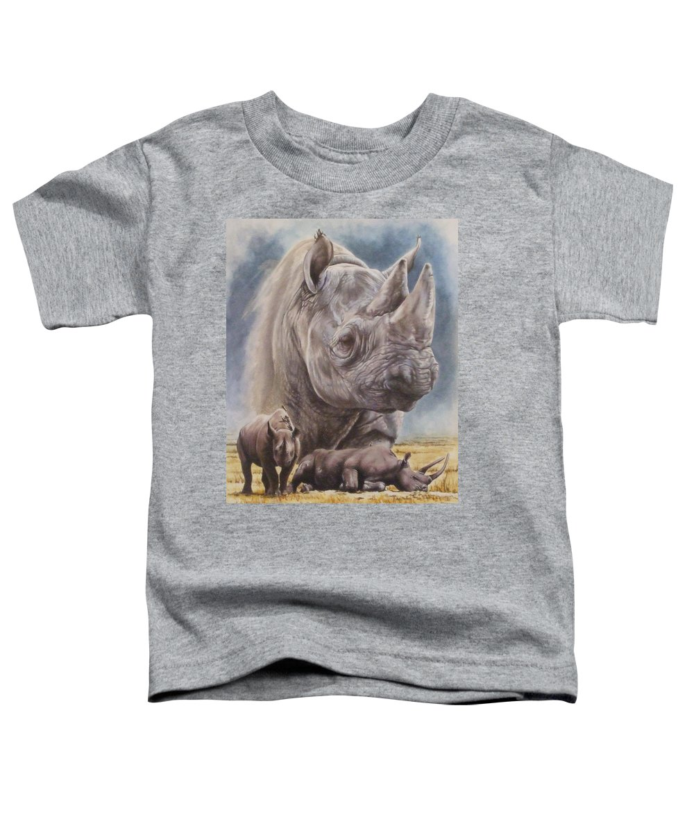 Wildlife Toddler T-Shirt featuring the mixed media Precarious by Barbara Keith