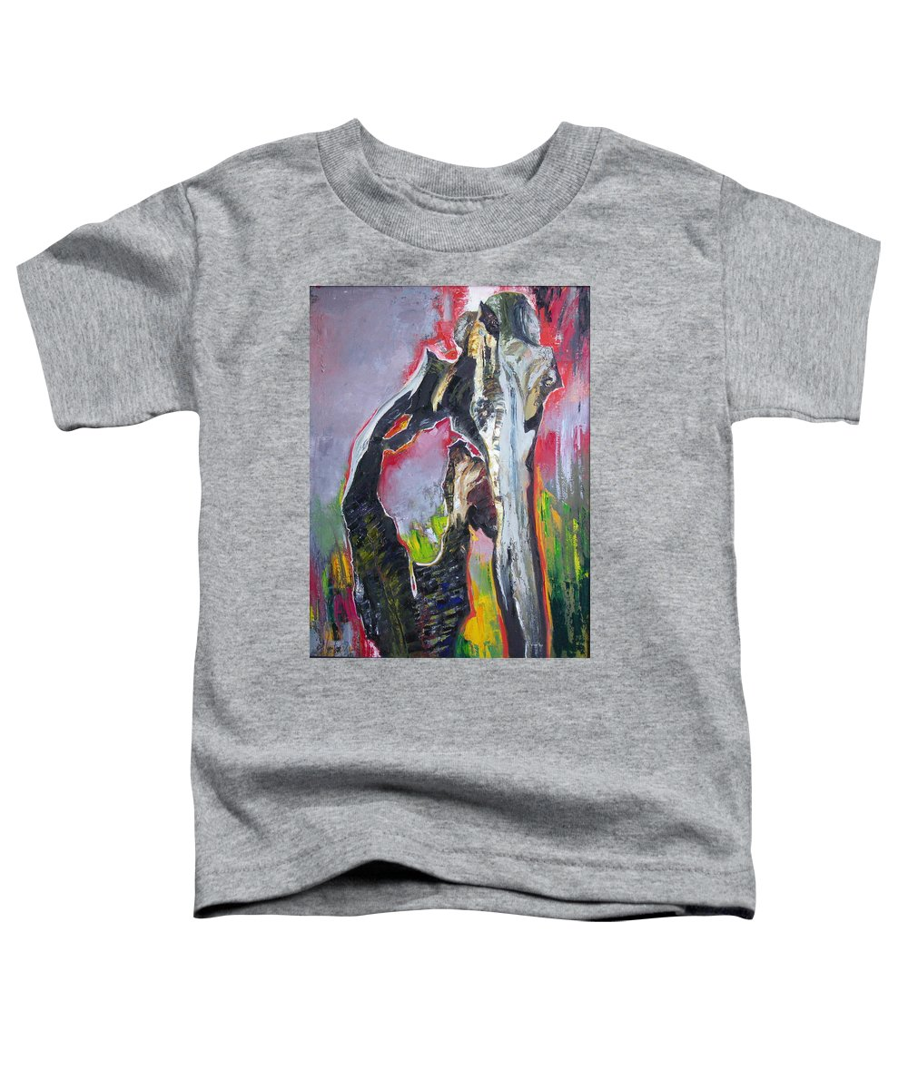 Oil Toddler T-Shirt featuring the painting Presentiment by Sergey Ignatenko