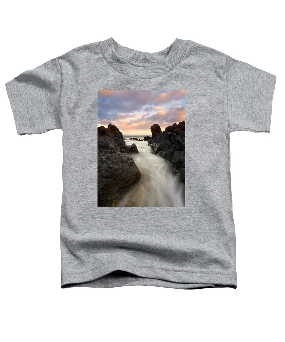 Sunrise Toddler T-Shirt featuring the photograph Primordial Tides by Mike Dawson