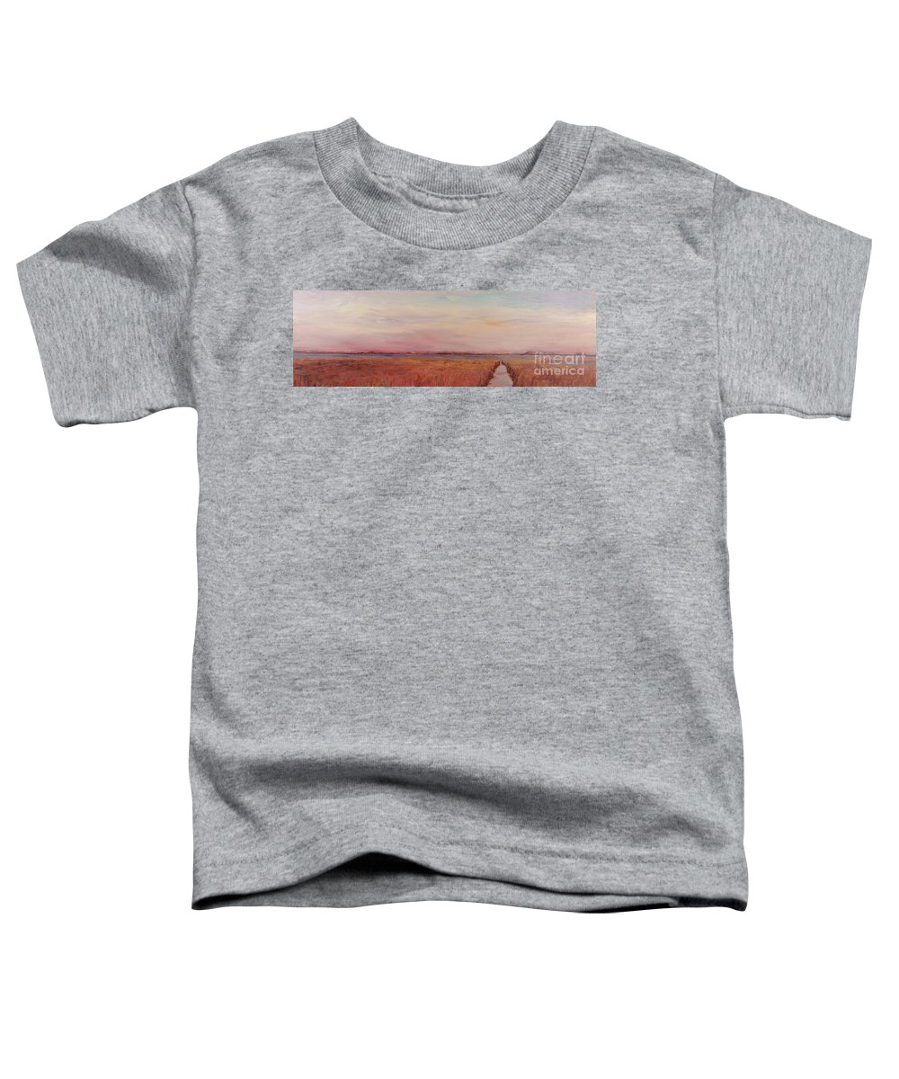 Landscape Toddler T-Shirt featuring the painting Provence Camargue by Nadine Rippelmeyer