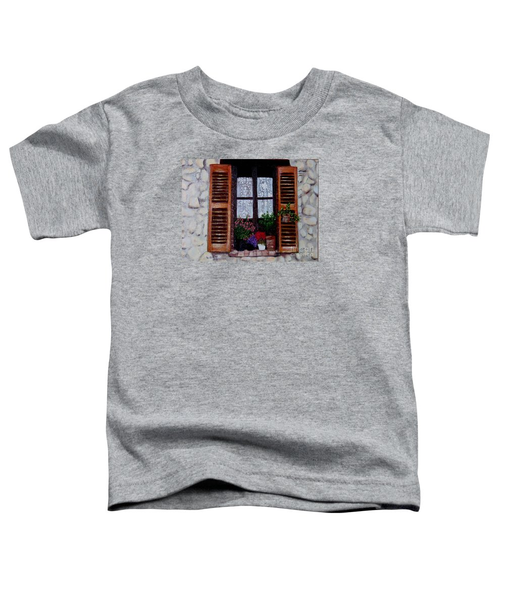 Provence Toddler T-Shirt featuring the painting Provence Morning by Laurie Morgan