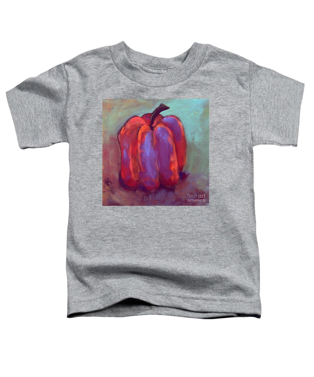 Pumpkin Toddler T-Shirt featuring the mixed media Pumpkin by David Hinds