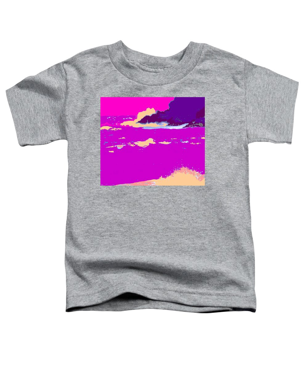 Waves Toddler T-Shirt featuring the photograph Purple Crashing Waves by Ian MacDonald
