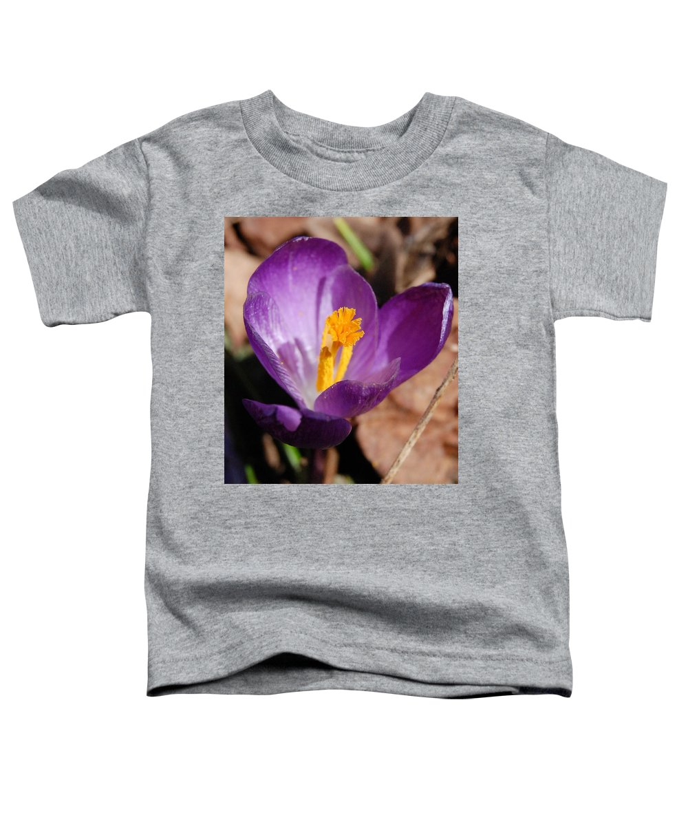 Digital Photography Toddler T-Shirt featuring the photograph Purple Crocus by David Lane