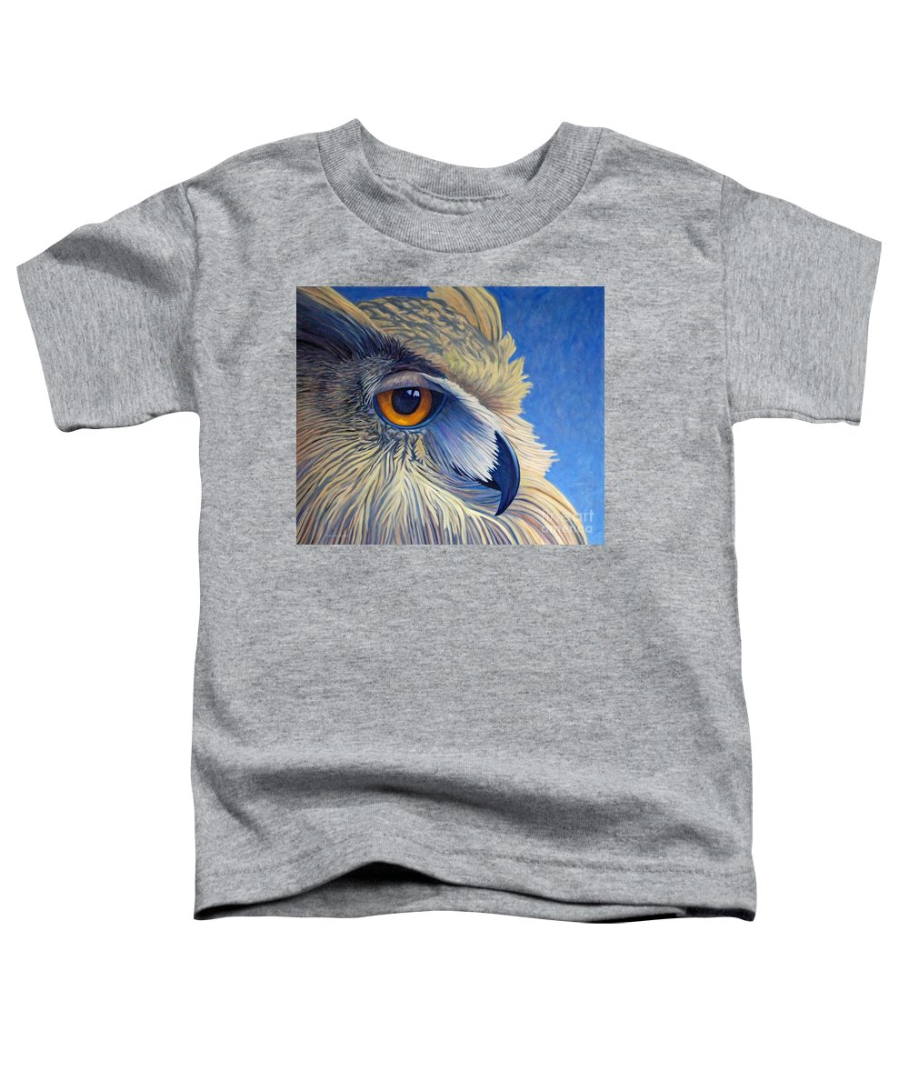 Owl Toddler T-Shirt featuring the painting Quiet Joy by Brian Commerford