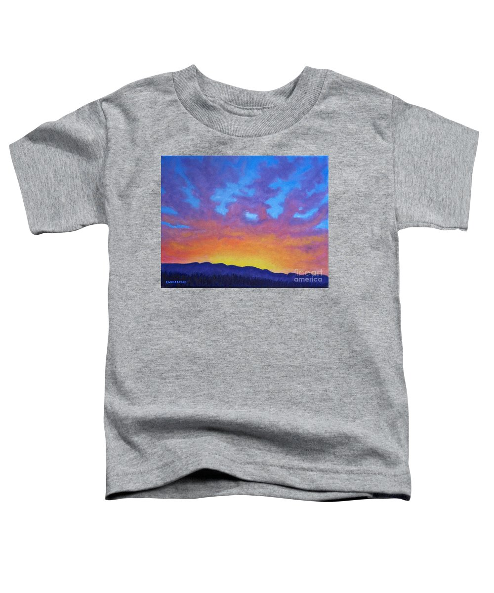 Landscape Toddler T-Shirt featuring the painting Radiance by Brian Commerford