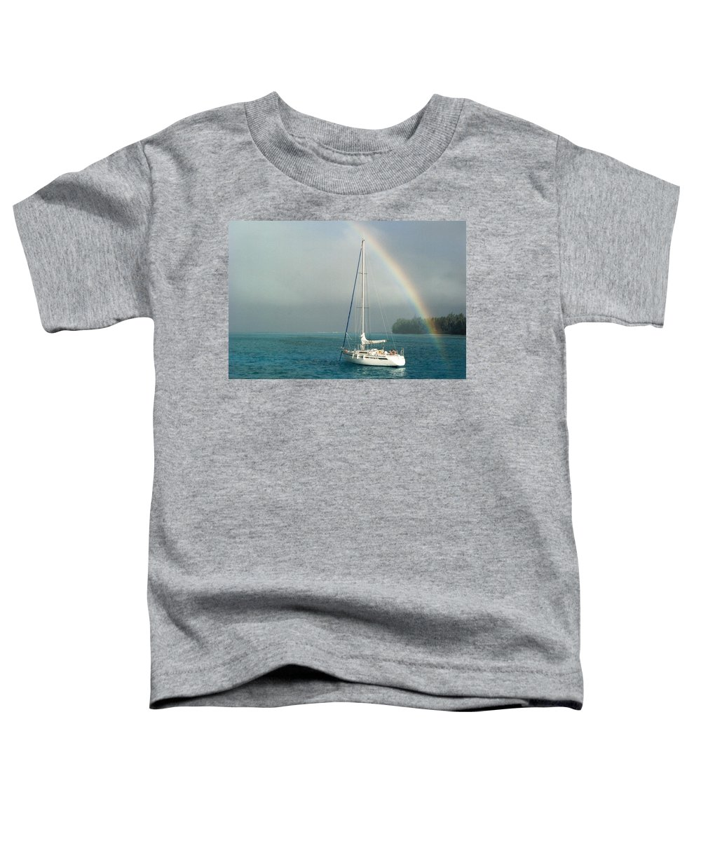 Charity Toddler T-Shirt featuring the photograph Rainbow by Mary-Lee Sanders