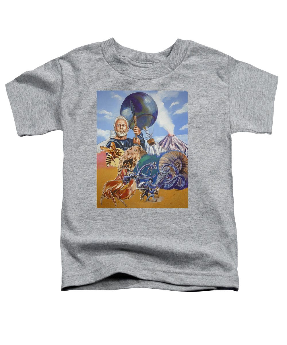 Mysterious Island Toddler T-Shirt featuring the painting Ray Harryhausen Tribute The Mysterious Island by Bryan Bustard