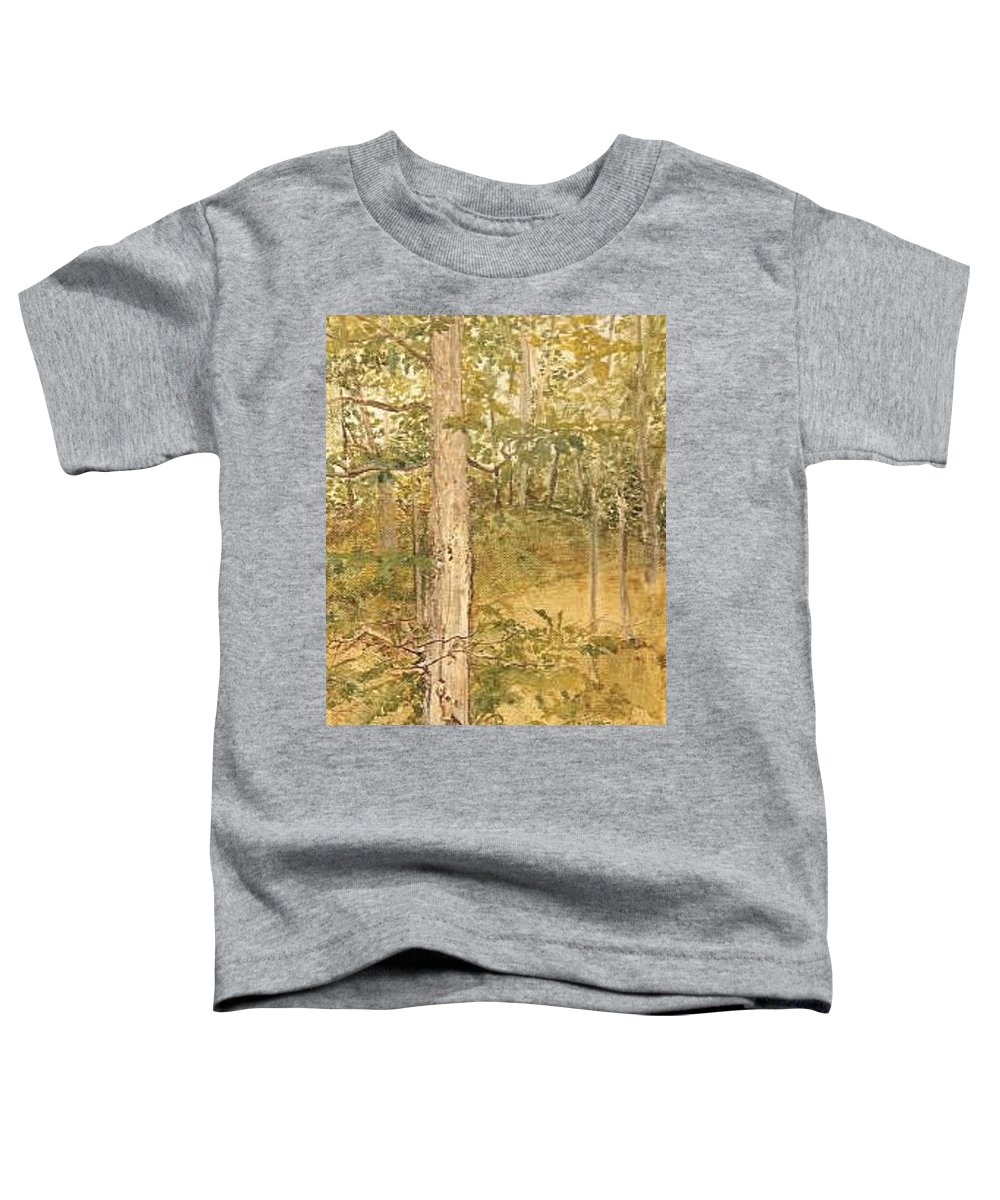 Trees Toddler T-Shirt featuring the painting Raystown Lake by Leah Tomaino