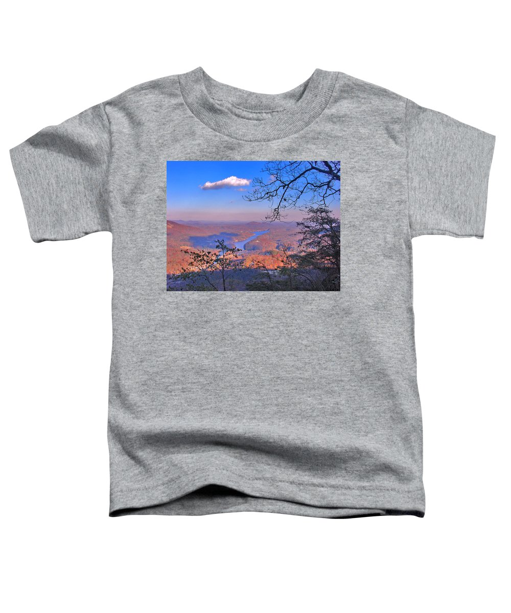 Landscape Toddler T-Shirt featuring the photograph Reaching For A Cloud by Steve Karol