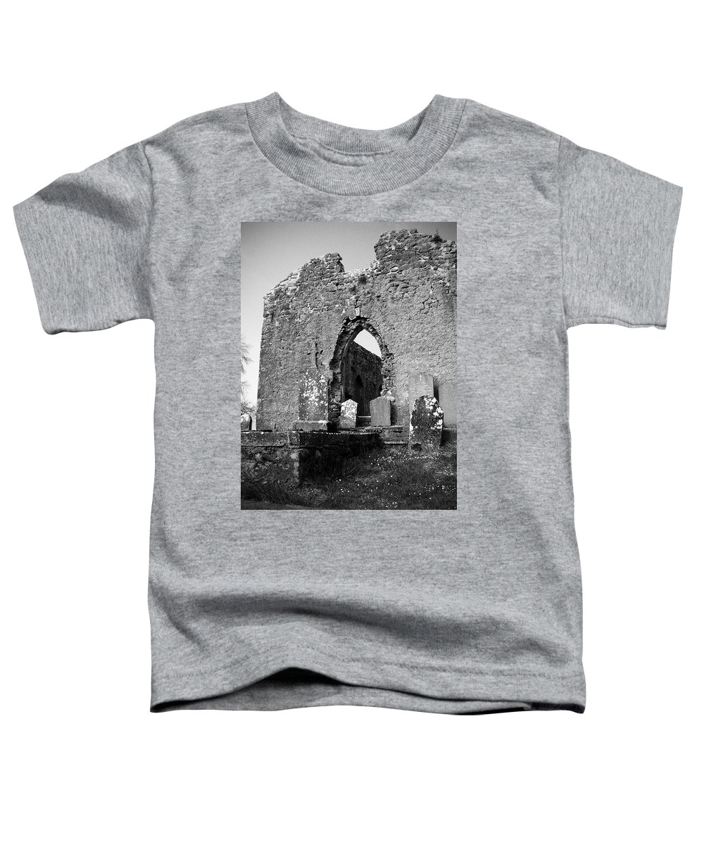 Ireland Toddler T-Shirt featuring the photograph Rear Entrance Fuerty Church Roscommon Ireland by Teresa Mucha