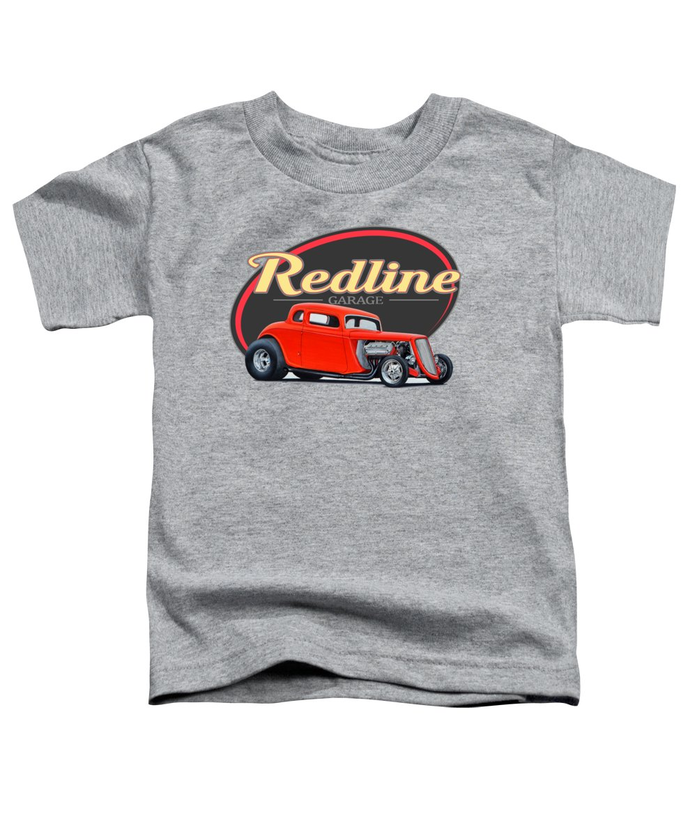 Redline Toddler T-Shirt featuring the photograph Redline Hot Rod Garage by Paul Kuras