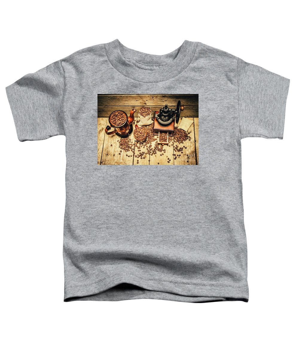 Grinder Toddler T-Shirt featuring the photograph Retro Coffee Bean Mill by Jorgo Photography - Wall Art Gallery