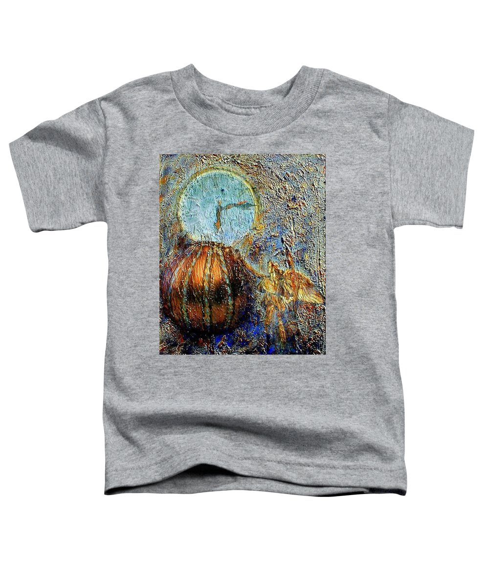 Christian Toddler T-Shirt featuring the mixed media Revelation by Gail Kirtz