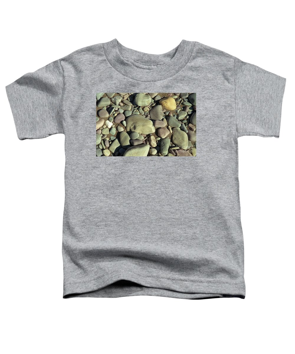 River Rock Toddler T-Shirt featuring the photograph River Rock by Richard Rizzo