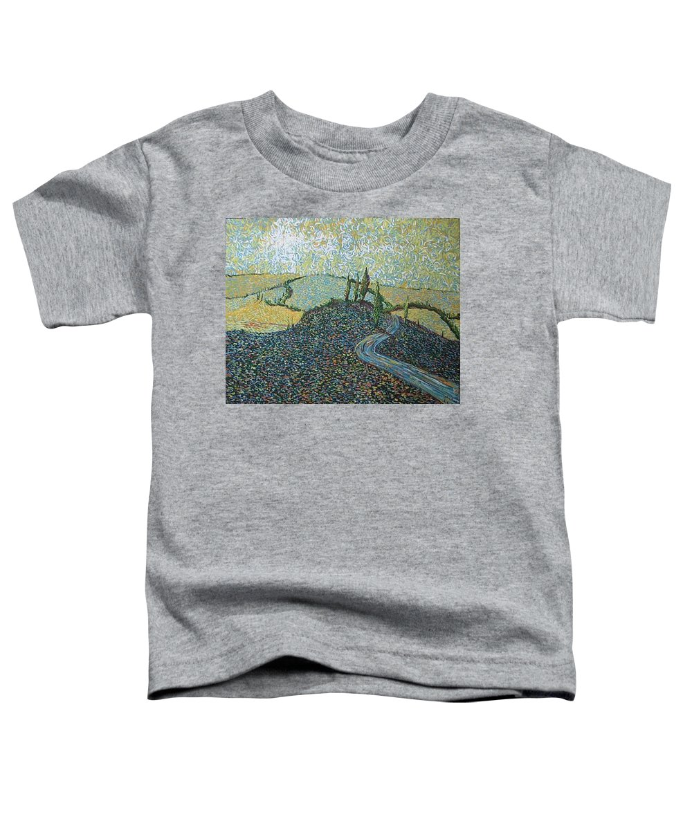 Landscape Toddler T-Shirt featuring the painting Road To Tuscany by Stefan Duncan