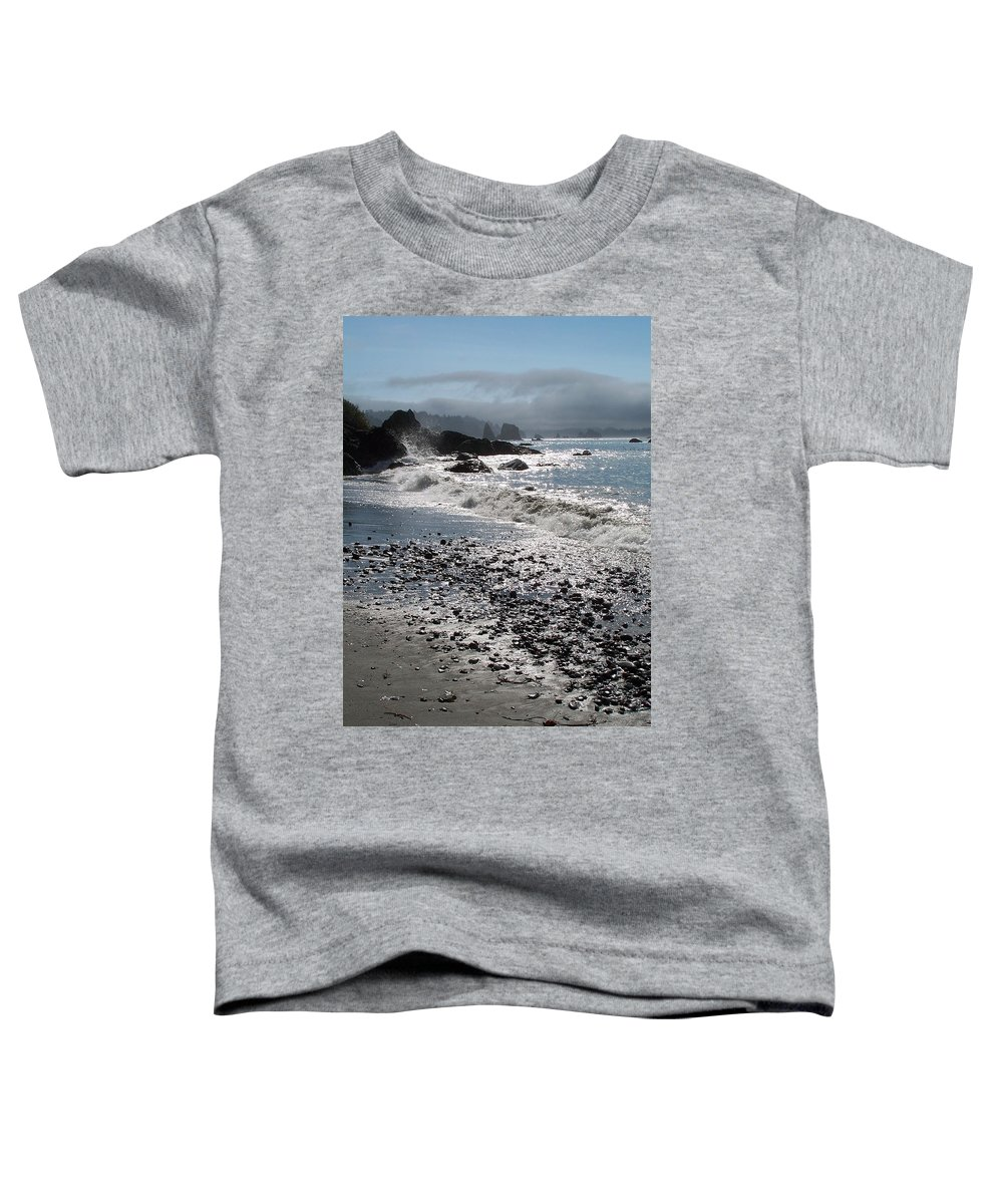 Ocean Toddler T-Shirt featuring the photograph Rocky Shores by Gale Cochran-Smith