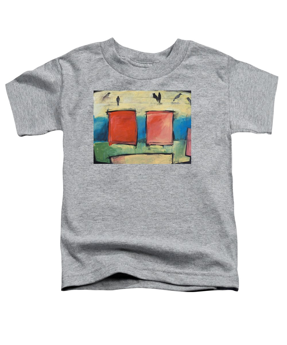 Rothko Toddler T-Shirt featuring the painting Rothko Meets Hitchcock by Tim Nyberg
