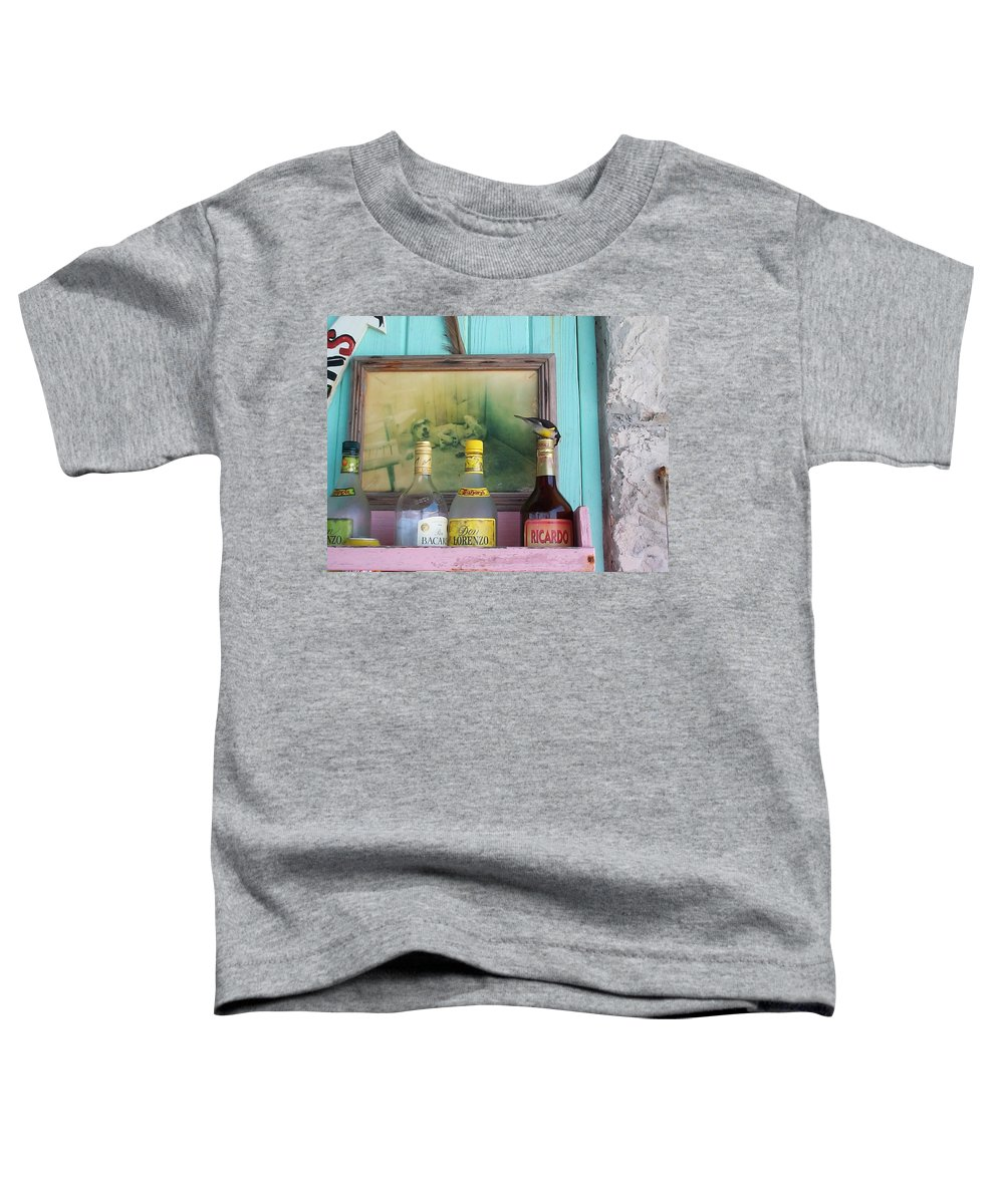 Charity Toddler T-Shirt featuring the photograph Rum Shack Bananaquit by Mary-Lee Sanders