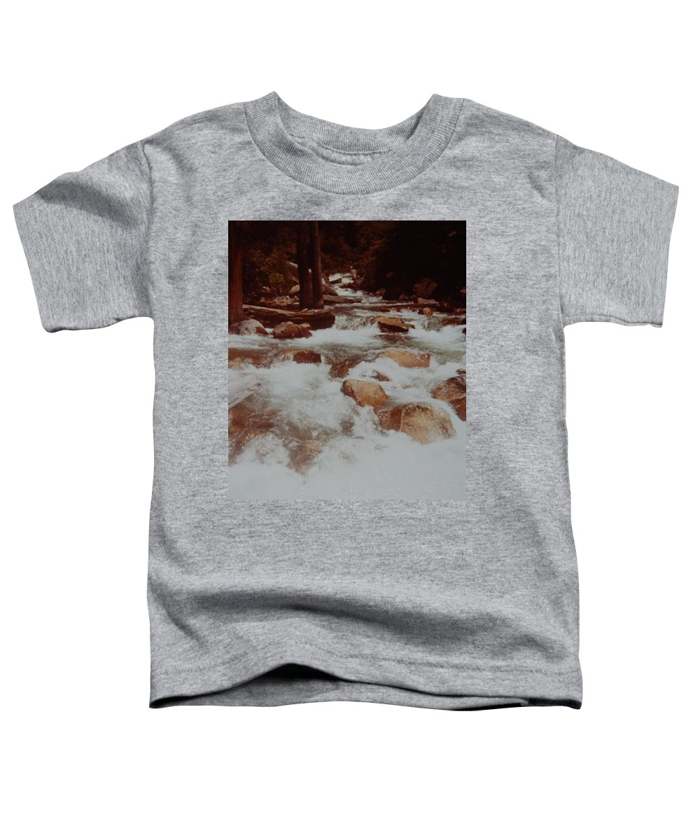 Water Toddler T-Shirt featuring the photograph Rushing Water by Rob Hans