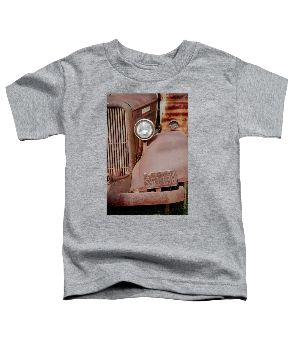 Car Toddler T-Shirt featuring the photograph Rusty by Flavia Westerwelle