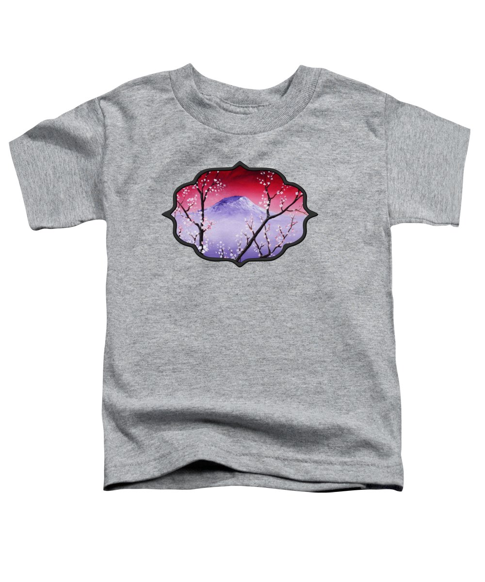 Malakhova Toddler T-Shirt featuring the painting Sakura by Anastasiya Malakhova