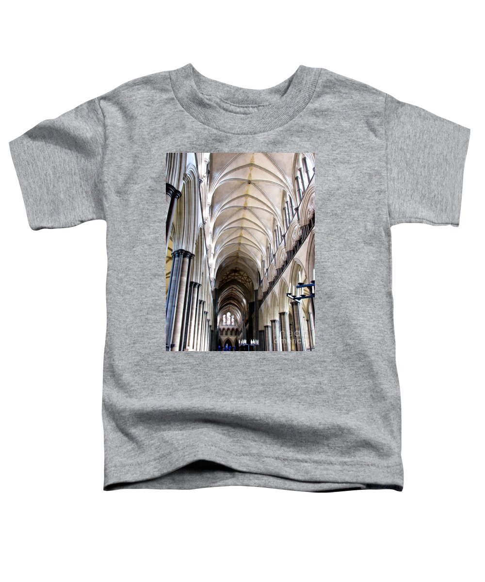 Salisbury Toddler T-Shirt featuring the photograph Salisbury Cathedral by Amanda Barcon