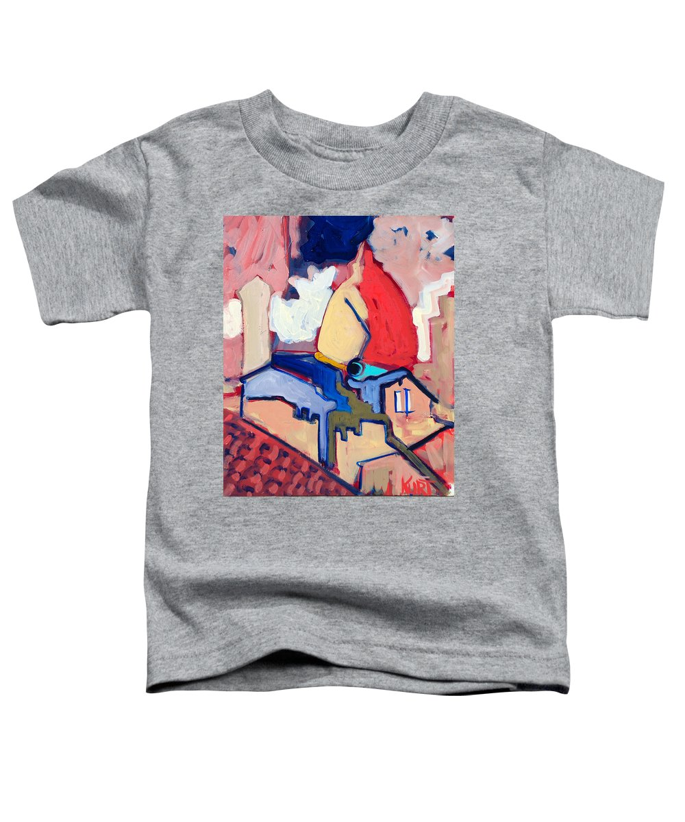 Florence Toddler T-Shirt featuring the painting Salutare by Kurt Hausmann