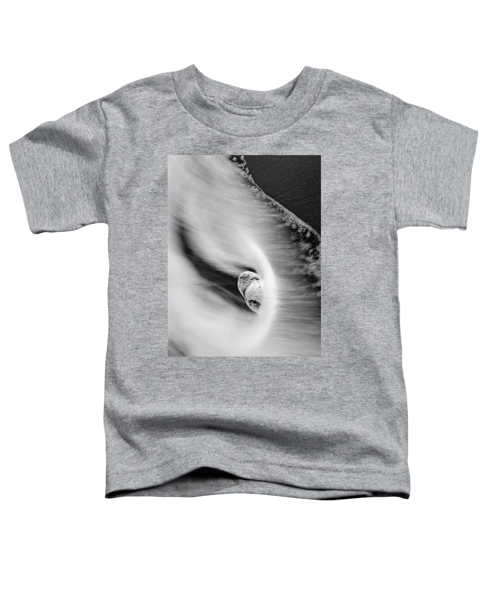 Rock Toddler T-Shirt featuring the photograph Sand And Sea by Mike Dawson