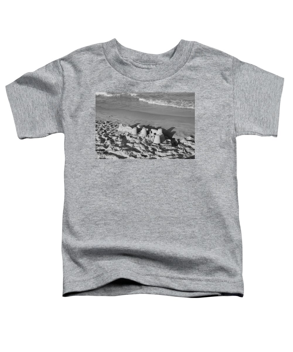 Sea Scape Toddler T-Shirt featuring the photograph Sand Castles By The Shore by Rob Hans
