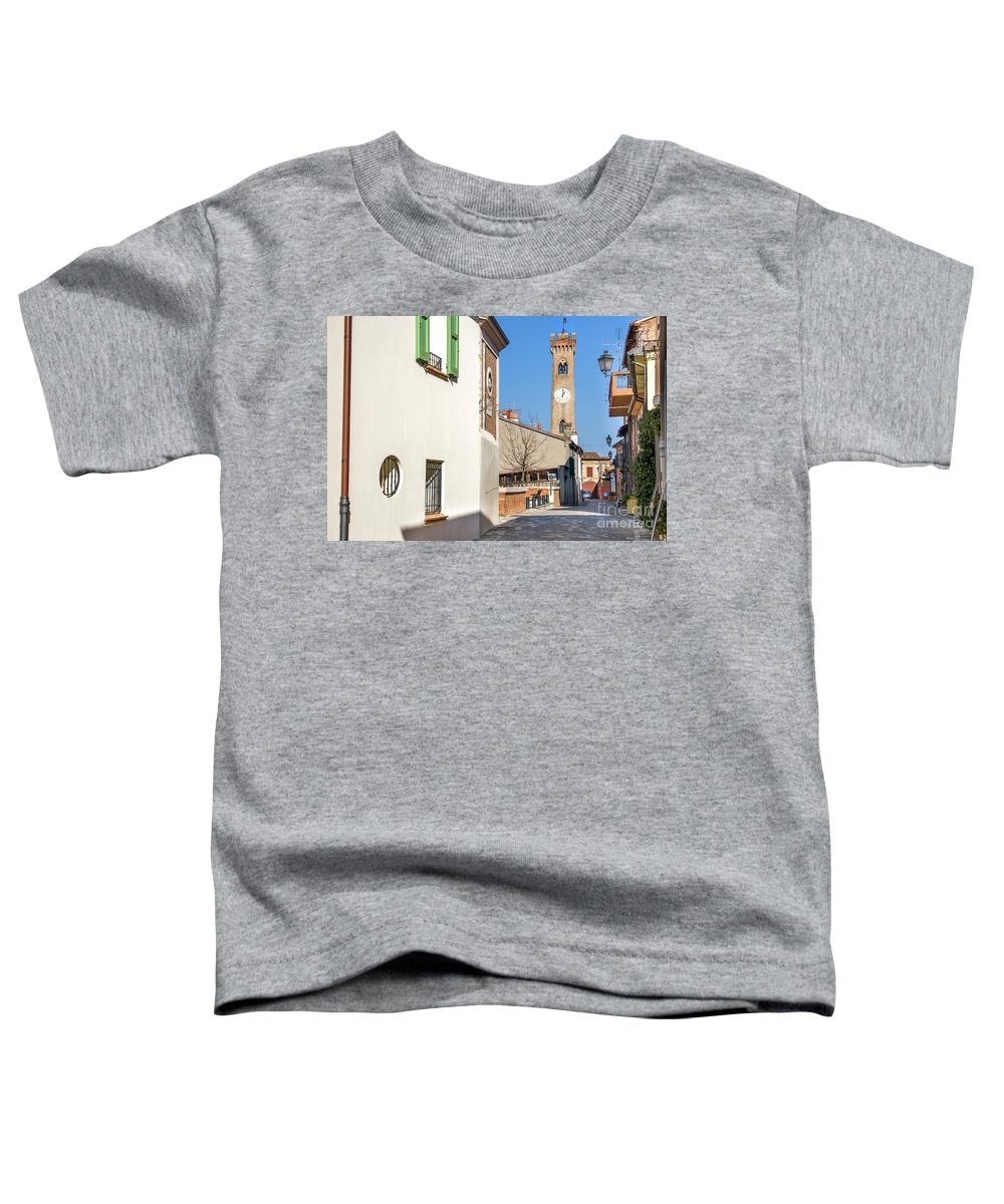 Campanone Toddler T-Shirt featuring the photograph Santarcangelo Di Romagna - Rimini - Italy Travel by Luca Lorenzelli