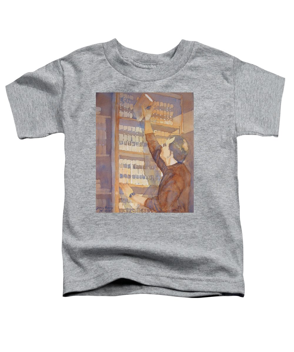 Law Toddler T-Shirt featuring the painting Saturday At The Office by Jenny Armitage