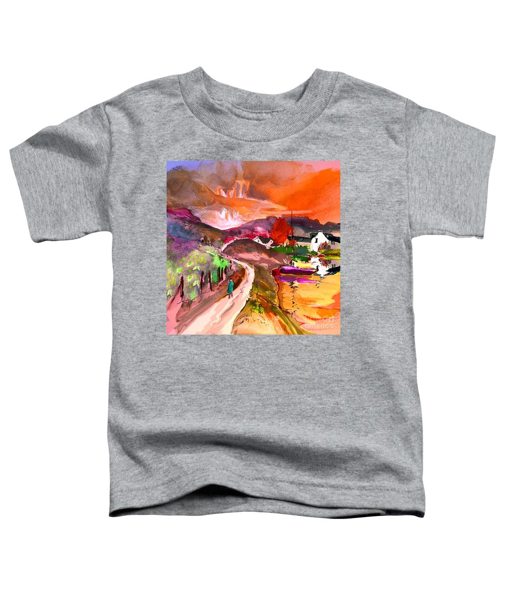 Scotland Paintings Toddler T-Shirt featuring the painting Scotland 02 by Miki De Goodaboom