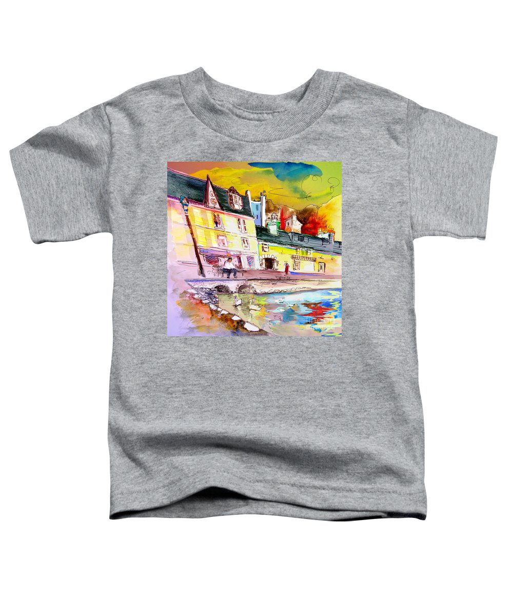 Scotland Paintings Toddler T-Shirt featuring the painting Scotland 04 by Miki De Goodaboom