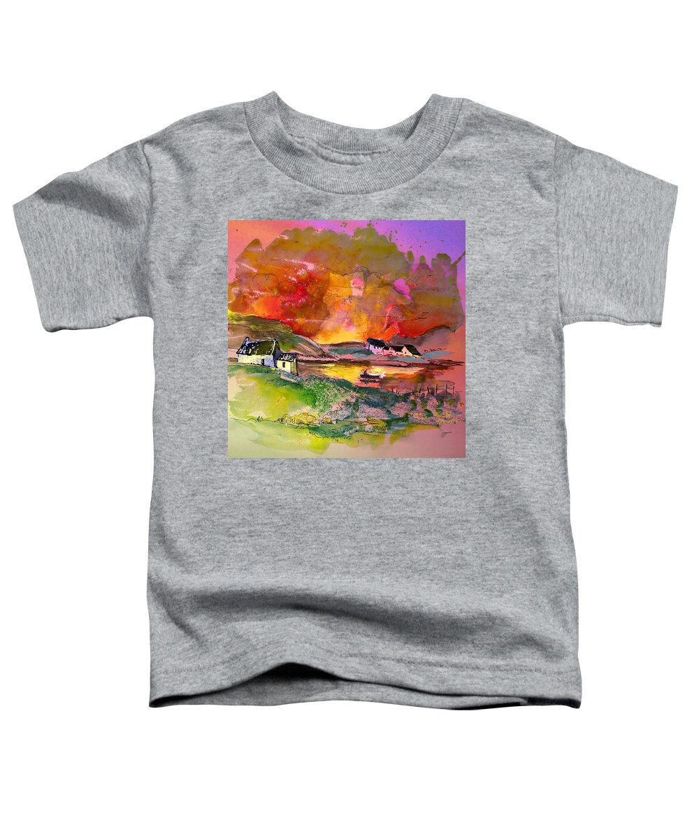 Scotland Paintings Toddler T-Shirt featuring the painting Scotland 07 by Miki De Goodaboom