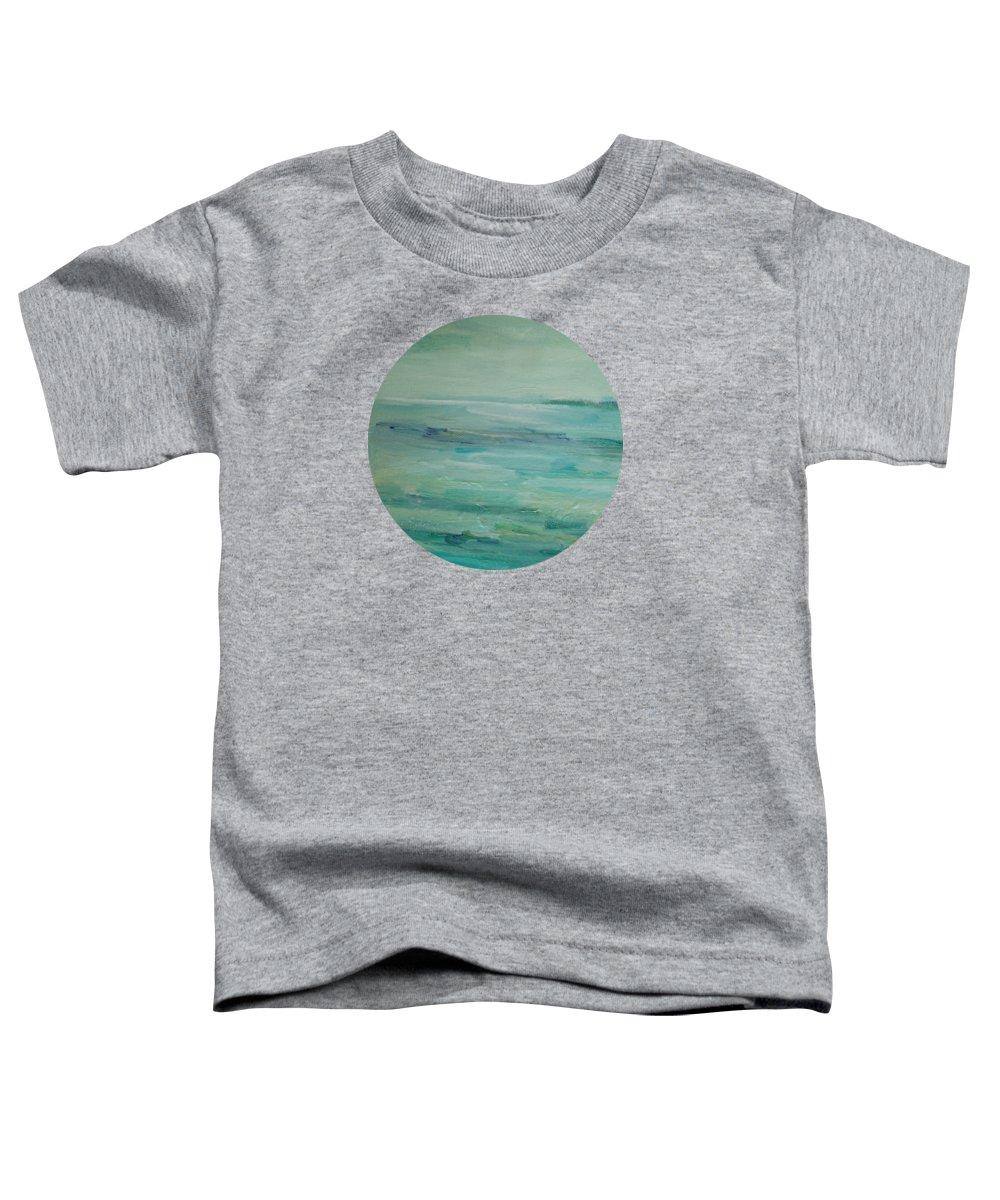Landscape Toddler T-Shirt featuring the painting Sea Glass by Mary Wolf