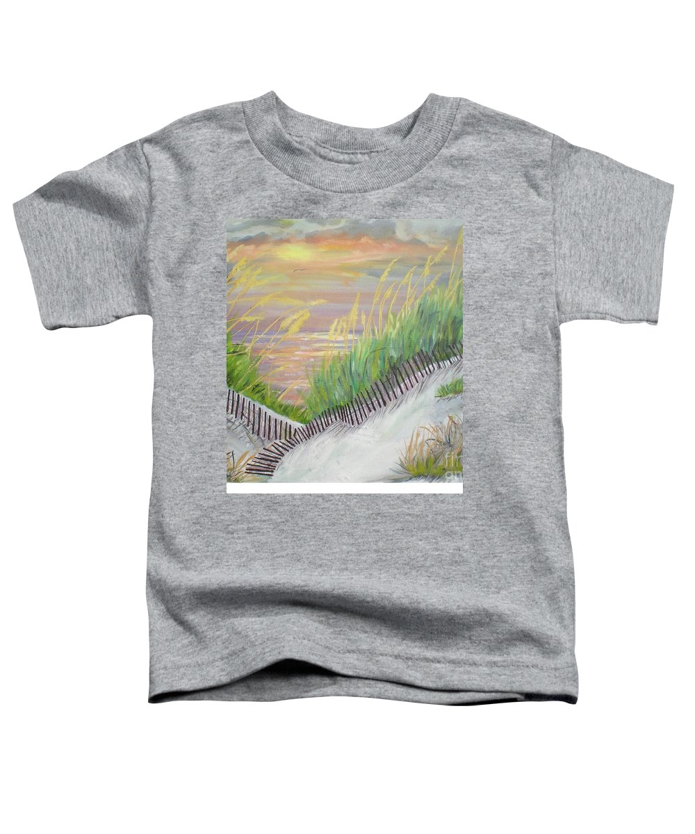 Seascape Toddler T-Shirt featuring the painting Sea Oats by Hal Newhouser