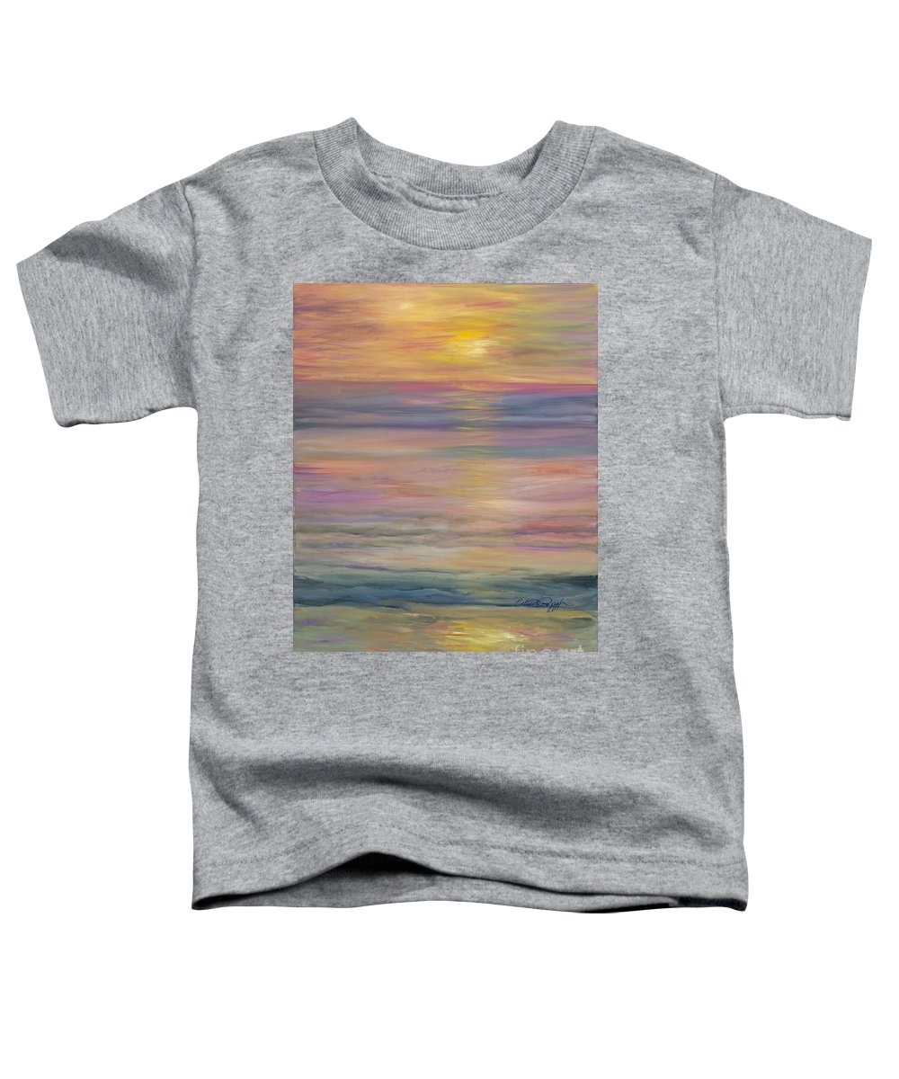 Sea Toddler T-Shirt featuring the painting Seascape by Nadine Rippelmeyer