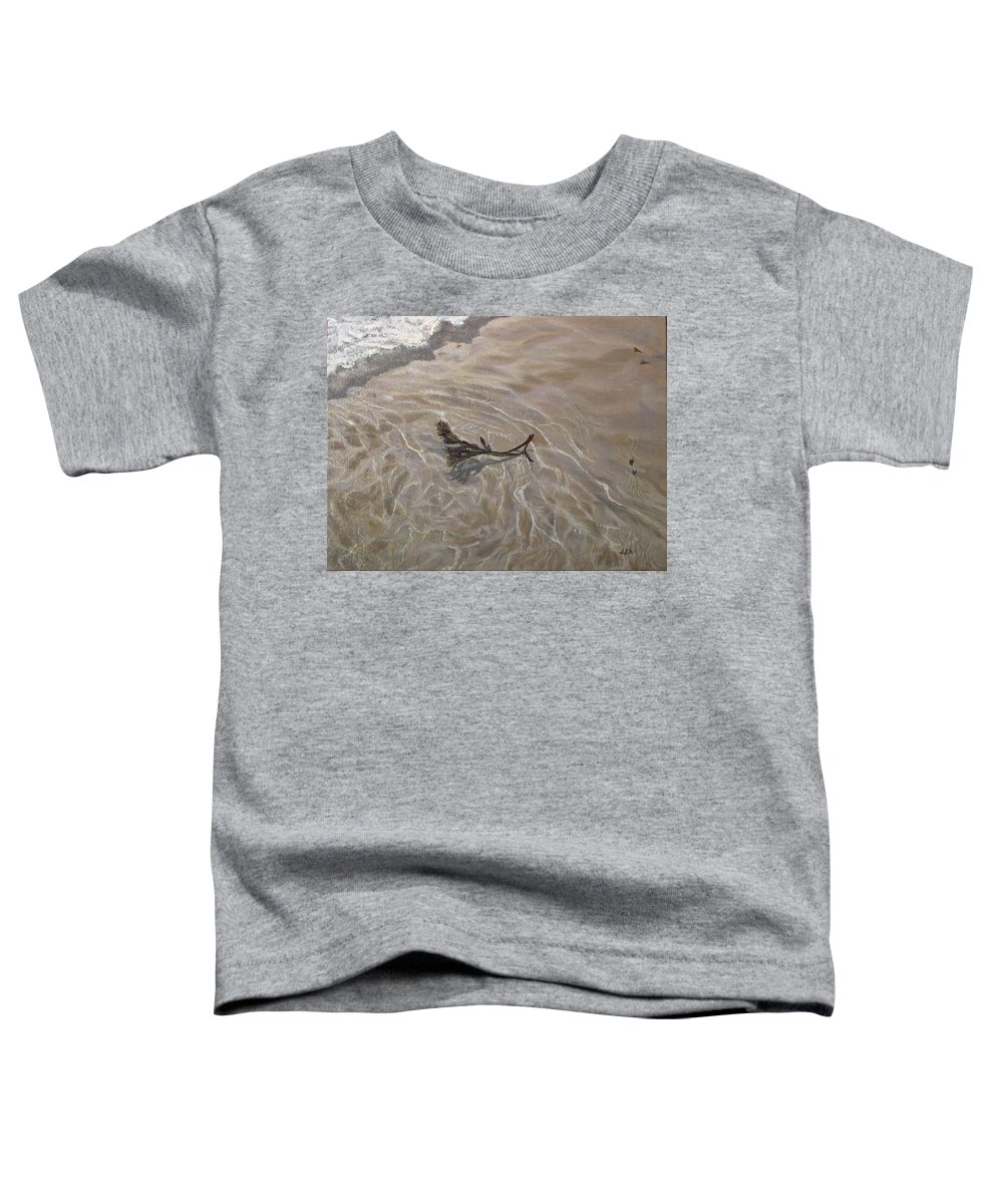 Seascape Toddler T-Shirt featuring the painting Seashore Reflections by Lea Novak