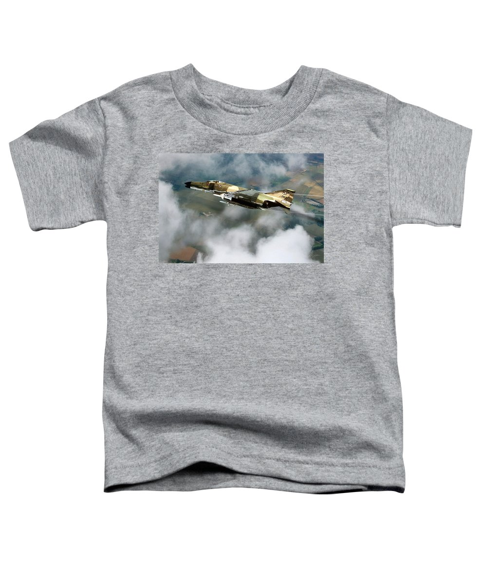 Aviation Toddler T-Shirt featuring the digital art Seek Attack Destroy 262 by Peter Chilelli