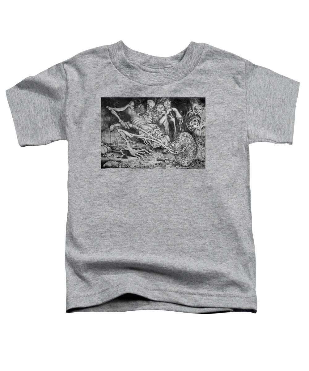 Surrealism Toddler T-Shirt featuring the drawing Selfpropelled Beastie Seeder by Otto Rapp
