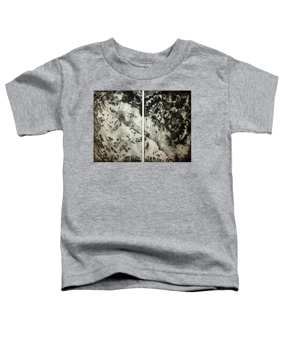 Etching Toddler T-Shirt featuring the drawing Shadows And Lace by Nancy Mueller