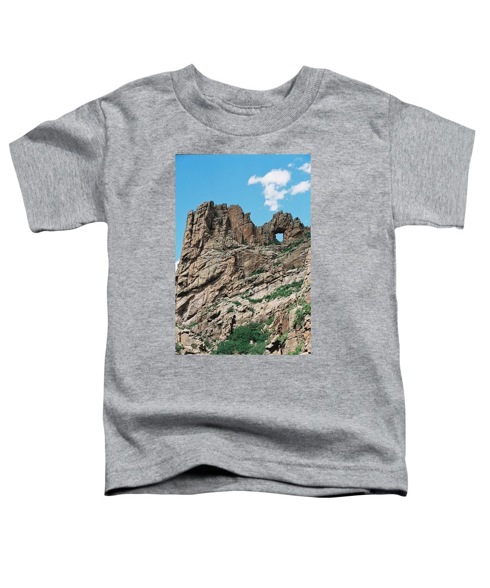Shelf Road Toddler T-Shirt featuring the photograph Shelf Road Rock Formations by Anita Burgermeister