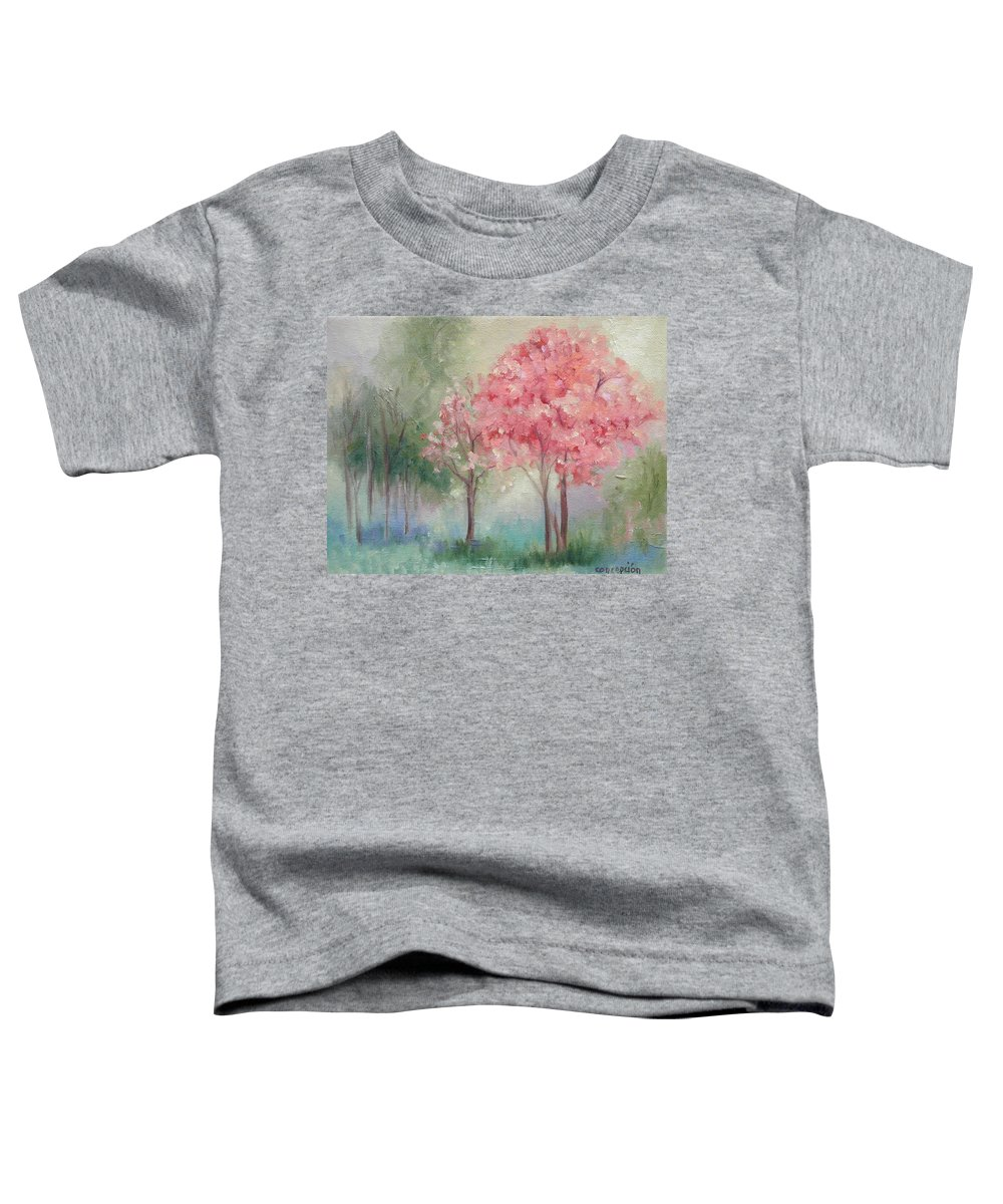 Spring Toddler T-Shirt featuring the painting Sign Of Spring by Ginger Concepcion